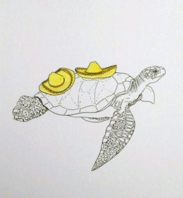 Animals in Hats: Turtle