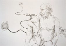 Man and Heater Wires