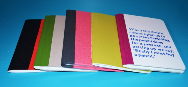 finished notebooks