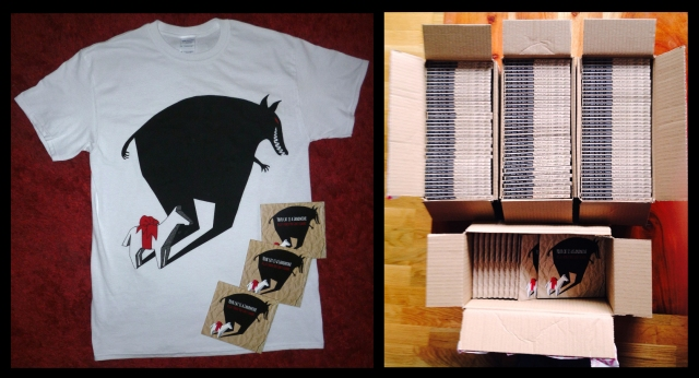 Gift horse T-shirt and CD box